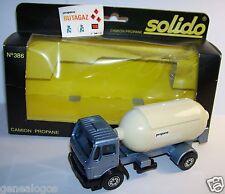 SOLIDO CAMION TRUCK MERCEDES 1217 K/32 CITERNE PROPANE BUTAGAZ REF 386 1979 BOX1