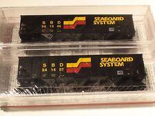 MICRO-TRAINS # 108052 SEABOARD SYSTEM 2 PACK 100 TON 3-BAY HOPPER RIB SIDE