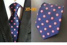Black Blue Red Purple Brown Green Polka Dot Classic Silk Men's Tie Suit Necktie