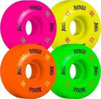 Bones Skateboard Wheels 53mm Wheels, 100's Party Pack #4 V1 - Grn/Purp/Yel/Org