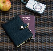 DARK BLACK NIGHT PASSPORT HOLDER COVER CASE TRAVEL BAG HOLIDAY TRIP JACKET