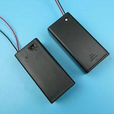 3x Black 9V Batterie Holder Case Box mit on/off Schalter Draht führen