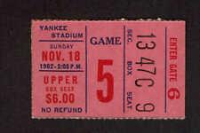 1962  NEW YORK GIANTS vs PHILADELPHIA EAGLES  Ticket Stub