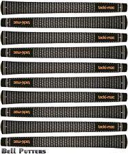 Ten (10) Tacki-mac Tour Select Midsize Black/White Golf Grips-Mens/Men's Grip