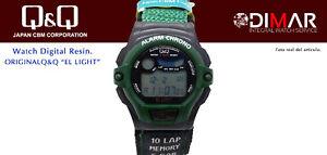 Vintage Watch Q&Q The Light. 9917, Wr 5m. Lap Memory 10. (M104 003)