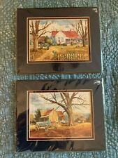 Jack Deloney TWO Art Prints - HERE AT HOME 1994 & PICKIN UP PECANS 1994