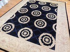 "9x12 Pile ""White House Seal"" Design Oriental Rug Navy Ivory"