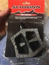 """NOS Rare Vintage Schwinn  1/2"""" Pedals Sierra MTB BMX Platform"""
