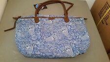 New Billabong French Blue Paisley Print Tote Shopper Bag~SAMPLE