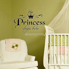The Princess Sleeps Here - Wall Sticker Say Quote Word Lettering Home Decor US