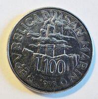 San Marino - 100 Lire - 1978 - FAO - stgl/unc (1995