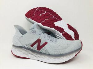 New Balance Men's 1080 V10 Running Shoe, Summer Fog/Neo Crimson, 10 D(M) US