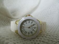 Analog Watch Gold Toned & White Comfortable Modern Fashion Elegant WORKING!