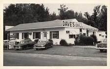 1950 ULMERS SC early DAVE'S GRILL 1950s CARS nr AUGUSTA SC  postcard