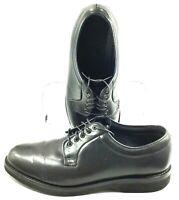 Barrie Ltd. Booters Oxford Men's Sz 9.5 EE Black Leather Plain Toe Lace Up Shoes