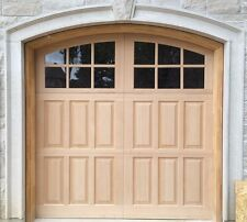 9' w x8' h Wood Carriage House Overhead Garage Door
