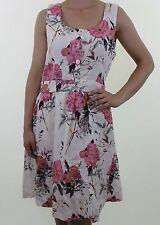 Linen Empire line Floral Dresses for Women
