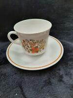 Vintage Corelle Corning Indian Summer Coffee / Tea Cup with Saucer
