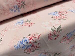 Soft Marocain Crepe Woven Dress Fabric, Per Metre - Ditsy Flower Print -  Pink