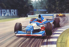 Signed  Gerhard Berger Return to Victory by Graham Turner Limited Edition Print