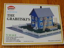 """Model Power N #1554 Building Kit -- The Grabitski's - 5-1/2 x 6-1/4"""" 14 x 15.9c"""