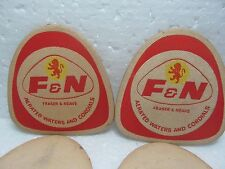 Vintage Fraser & Neave F & N Aerated Water Coasters Set Of 2 Piece. 2
