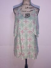 Oneill Halter Backless Dress Womens Size S Small Multi-Color Layered V-Neckline