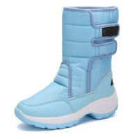 Womens Snow Boots Girls Winter Warm High-top Fur Lined Moon Boot Snowboard Shoes