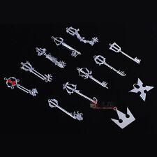 Kingdom Hearts 2 II Silvery 12 Key Blade Sora Keyblade Pendant Necklace Kit