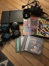 Sony PlayStation 2 PS2 Slim Black Console w/cords controller And 7 Games