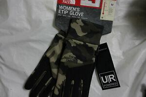 The North Face Women Camo ETIP Gloves Medium Brand New