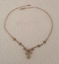 Kette Gold 333 Saphire Jugendstil ca 120 Jahre alt Top Zustand Halskette Collier