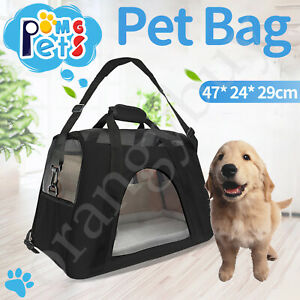Expandable Pet Carrier Bags Large Cat Dog Puppy Comfort Breathable For Travel AU