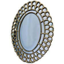 """20"""" Gold Oval Mirror"""