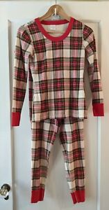 Hanna Andersson RED FAMILY PLAID  HOLIDAY  Pajamas UNISEX ADULT XS