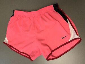 Nike Dri-Fit Girls M Hot Pink Athletic running shorts Tie inside waist Medium