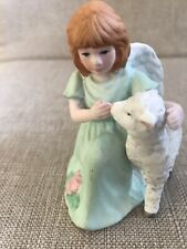 1998 Roman Inc Angel With Lamb Excellent Condition