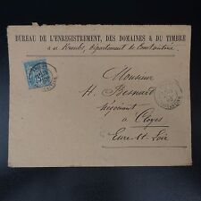 FRANCE TIMBRE TYPE SAGE N°101 SUR LETTRE COVER BFE CAD KROUBS CONSTANTINE