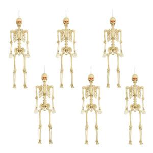 5 ft. Posable Skeleton with LED Illumination (Set of 6)