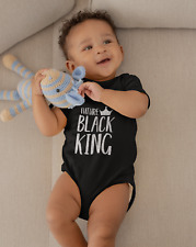 Future Black King Gildan Baby One Piece