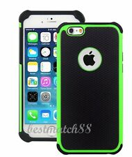 for iPhone 6 4.7 inch phone green black triple layer ruged hybrid hard soft case