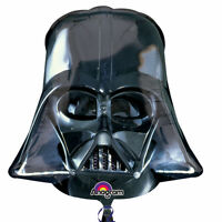 STAR WARS DARTH VADER HELMET BIRTHDAY PARTY SUPERSHAPE FOIL BALLOON DECORATION