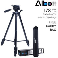 Professional 360° Pan Head Travel Tripod for Canon Nikon Sony Camera Camcorder
