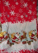 Red Retro Santa Claus Twin Comforter Bed 16773 Snowflakes Retro