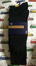 Marks And Spencer Black Egyptian Cotton Mens Sock Pack Size 6-8.5