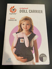 ergobaby doll carrier in box, mint dots