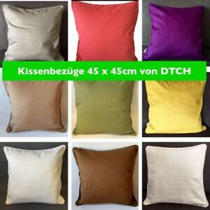 Kissenbezug / hülle DTCH 45x45cm versch. Farben mit Reißverschluss ohne Füllung