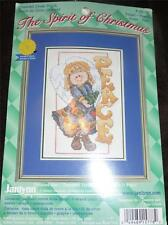 JANLYNN The Spirit of Christmas Counted Cross Stitch Kit - ANGEL - PEACE