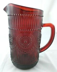 Pioneer Woman Ruby Red Adeline 54oz Pitcher New (LVR)