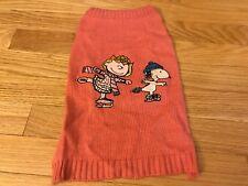 Pink Cartoon Pet Dog Winter Warm Knitwear Sweater Apparel
